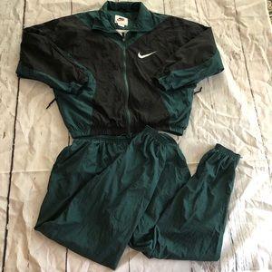 Vintage Nike 2 Piece Tracksuit Sweatsuit XL Green